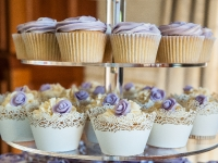 Vanilla and Rum Wedding Cupcakes