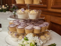 Detail of Robyn and Mark's Wedding Cupcakes