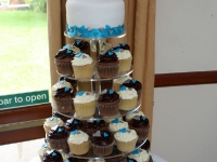 Michelle and Andrew's Wedding Cupcake Tower