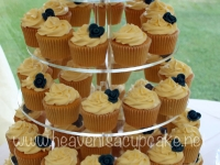 Close Up of Classic Wedding Cupcake Tower