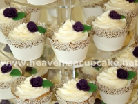 Vanilla Wedding Cupcakes in Cupcake Wrappers