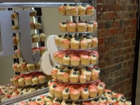 Hannah & Darren's Wedding Cupcake Tower at Wasing Park, Reading