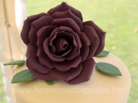 Full size purple sugar rose