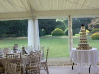 Shona and Andrew's Wedding Cupcake Tower At Rothamsted Manor, Harpenden