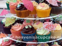 Close Up of Alex and Darren's Wedding Cupcakes