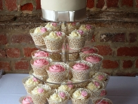 Vintage Wedding Cupcake Tower