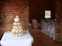 Rose Pink & Ivory Cupcake Tower