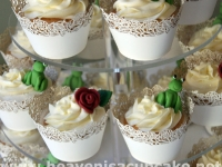 Vanilla Cupcakes with Rose Vine Wrappers