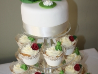 Froggy Wedding  Cupcake Tower