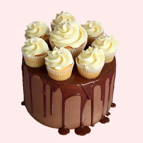 Cupcake Panache Drip Cake