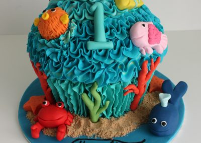 Under the sea giant cupcake