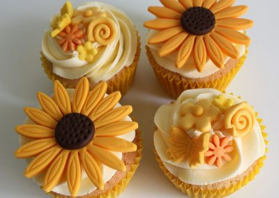 Sunset Flower Cupcakes
