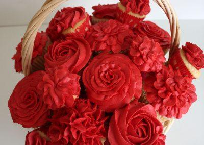 Red cupcake basket
