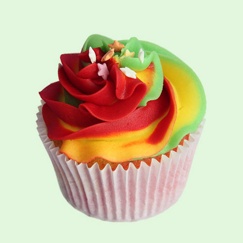 Somewhere Over the Rainbow Cupcakes