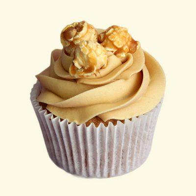 Salted Caramel Popcorn Cupcakes