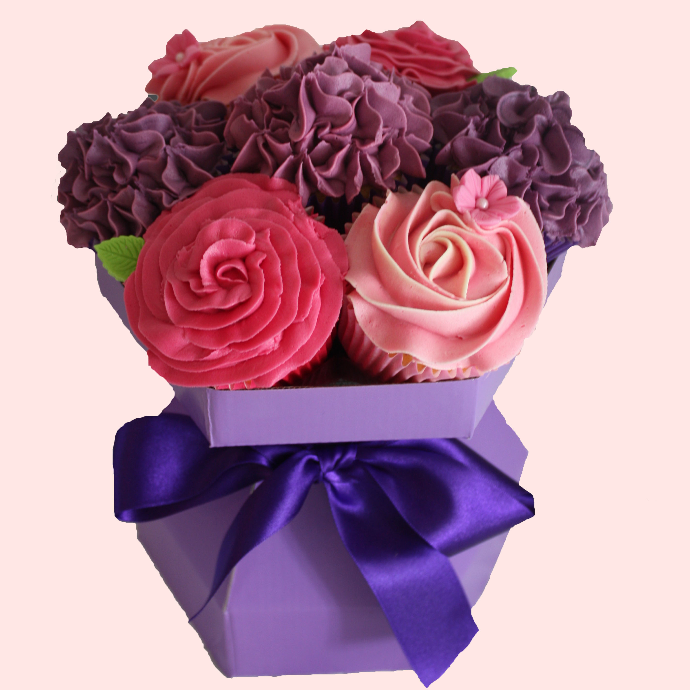 how to make a cupcake bouquet box