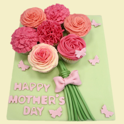 Flower Basket Mothers Day Cake : Floral cupcake bouquet heaven is a st albans